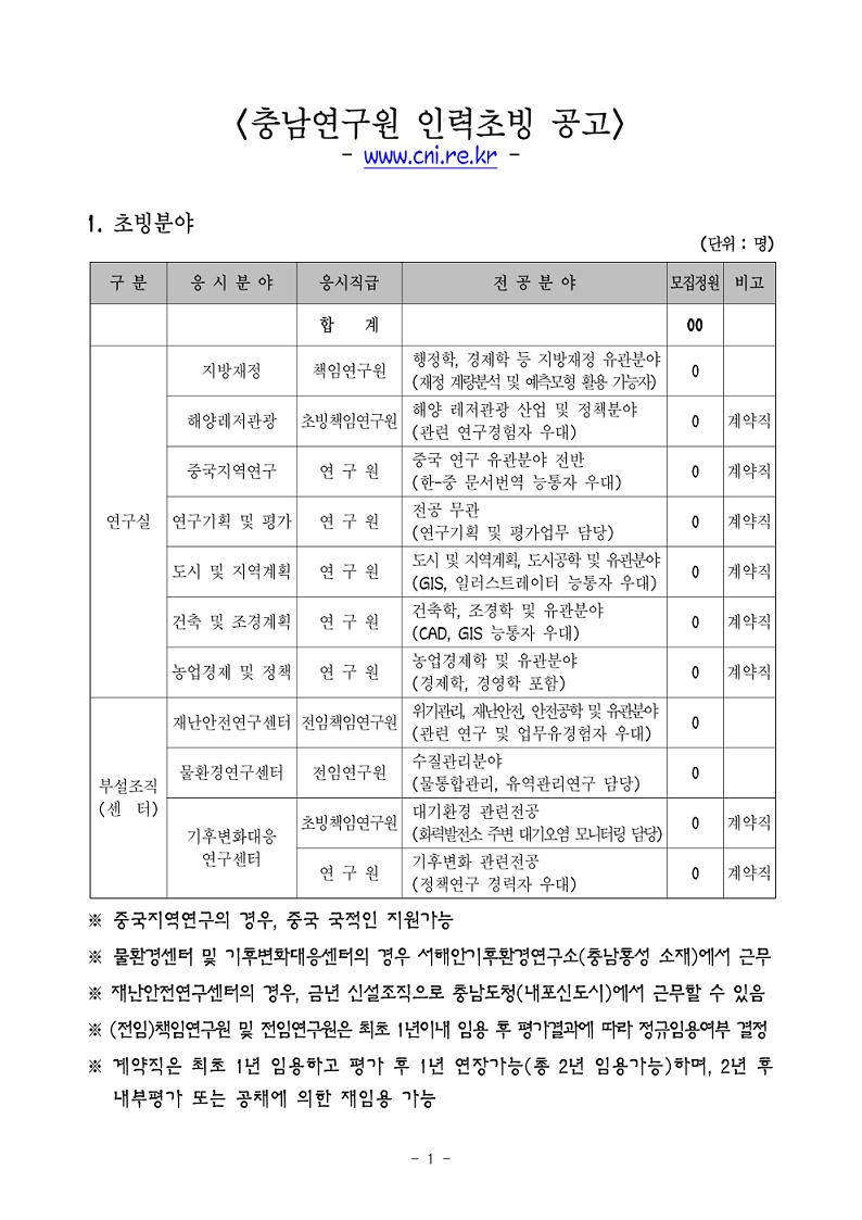 충남연구원 인력초빙 공고문(2016.3)-1.jpg