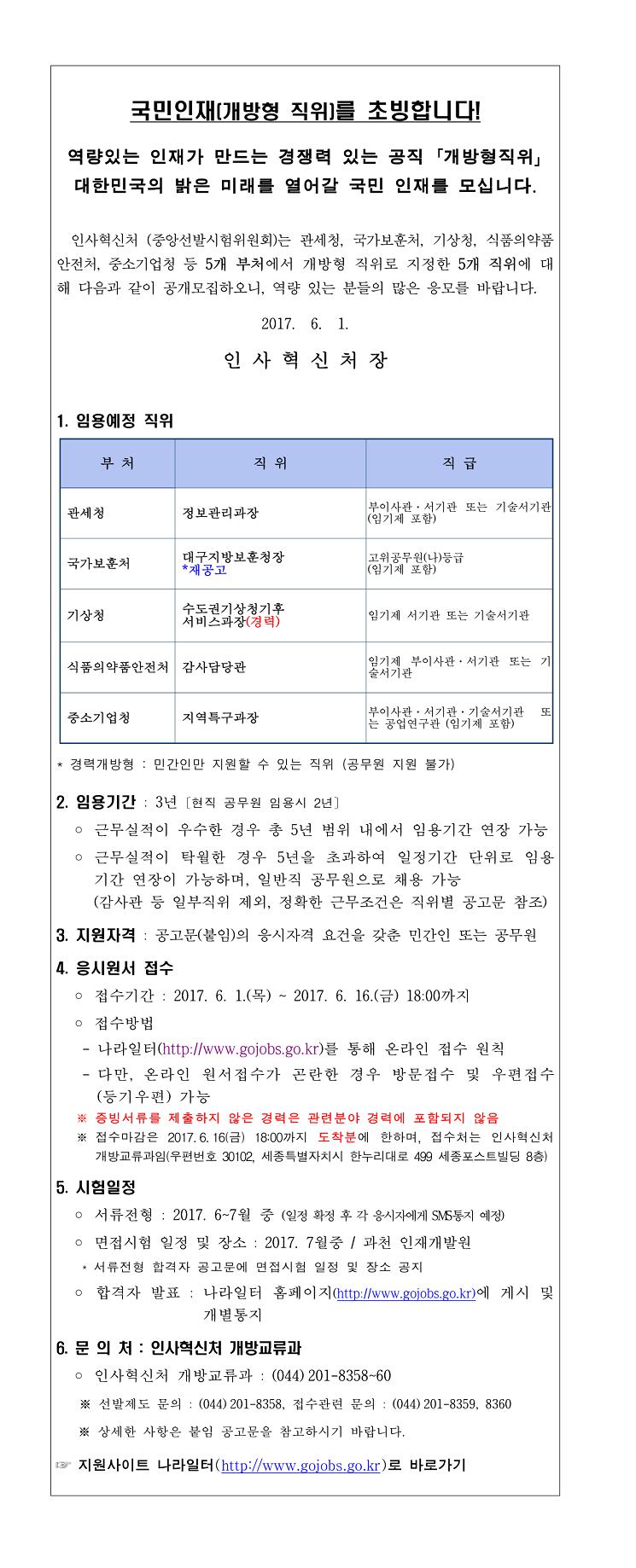 1. 개방형 직위 공개모집 안내(2017년 6월 공고)-1.jpg