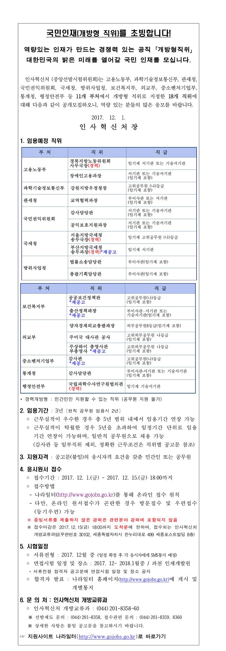 1. 개방형 직위 공개모집 안내(2017년 12월 공고)-1.jpg