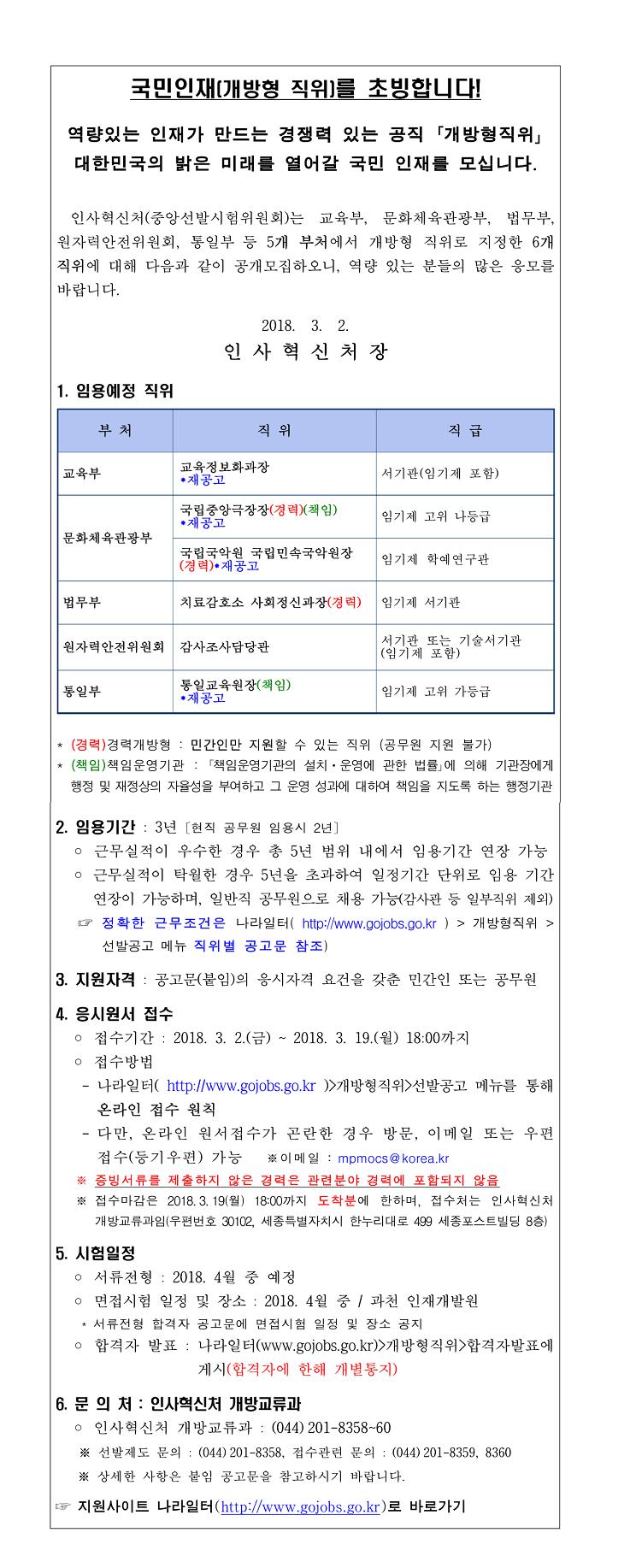 1. 개방형 직위 공개모집 안내(2018년 3월 공고)-1.jpg